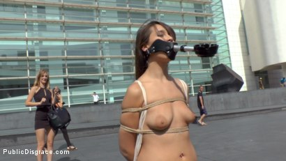 Photo number 2 from Nikki Litte Loves Being a Public Ashtray shot for Public Disgrace on Kink.com. Featuring Mona Wales, Steve Holmes, Nick Moreno and Nikki Litte in hardcore BDSM & Fetish porn.