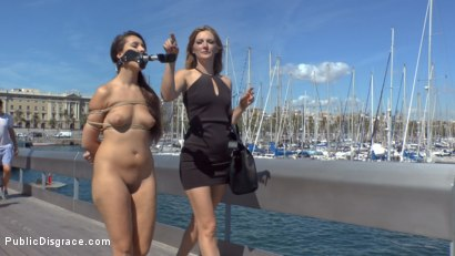 Photo number 8 from Nikki Litte Loves Being a Public Ashtray shot for Public Disgrace on Kink.com. Featuring Mona Wales, Steve Holmes, Nick Moreno and Nikki Litte in hardcore BDSM & Fetish porn.
