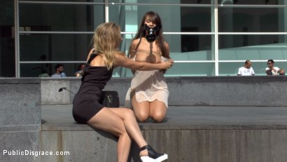 Photo number 1 from Nikki Litte Loves Being a Public Ashtray shot for Public Disgrace on Kink.com. Featuring Mona Wales, Steve Holmes, Nick Moreno and Nikki Litte in hardcore BDSM & Fetish porn.