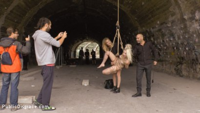 Photo number 5 from Eager Blonde Nympho Needs All Her Holes Publicly Pounded  shot for Public Disgrace on Kink.com. Featuring Mona Wales, Max Cortes and Liz Rainbow in hardcore BDSM & Fetish porn.