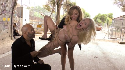 Photo number 6 from Eager Blonde Nympho Needs All Her Holes Publicly Pounded  shot for Public Disgrace on Kink.com. Featuring Mona Wales, Max Cortes and Liz Rainbow in hardcore BDSM & Fetish porn.