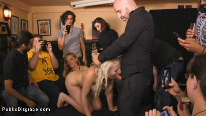 Photo number 8 from Eager Blonde Nympho Needs All Her Holes Publicly Pounded  shot for Public Disgrace on Kink.com. Featuring Mona Wales, Max Cortes and Liz Rainbow in hardcore BDSM & Fetish porn.