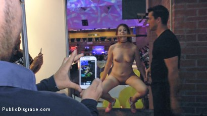 Photo number 3 from Little Whore Draws a Huge Crowd  shot for Public Disgrace on Kink.com. Featuring Mona Wales, Rena Reindeer and Ramon Nomar in hardcore BDSM & Fetish porn.