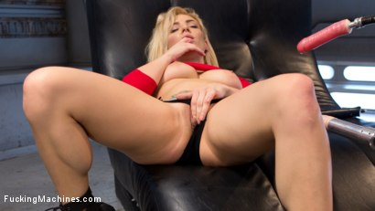 Photo number 15 from Stunning Blonde Babe Gets Fucked Into Oblivion shot for Fucking Machines on Kink.com. Featuring Dahlia Sky in hardcore BDSM & Fetish porn.