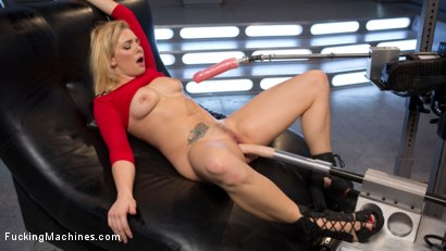 Photo number 9 from Stunning Blonde Babe Gets Fucked Into Oblivion shot for Fucking Machines on Kink.com. Featuring Dahlia Sky in hardcore BDSM & Fetish porn.