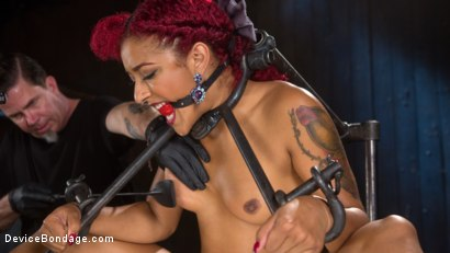 Photo number 5 from Helpless Slut Tormented and Massive Squirting Orgasms!! shot for Device Bondage on Kink.com. Featuring Daisy Ducati and The Pope in hardcore BDSM & Fetish porn.