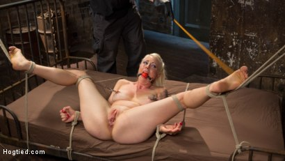Photo number 15 from Lorelei Lee Submits in Brutal Bondage with Grueling Torment!!! shot for Hogtied on Kink.com. Featuring Lorelei Lee and The Pope in hardcore BDSM & Fetish porn.
