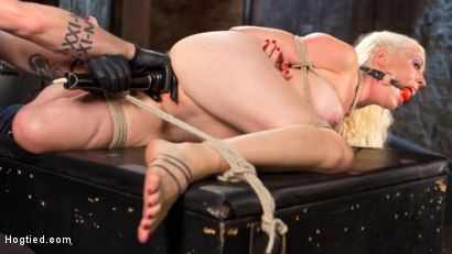 Photo number 5 from Lorelei Lee Submits in Brutal Bondage with Grueling Torment!!! shot for Hogtied on Kink.com. Featuring Lorelei Lee and The Pope in hardcore BDSM & Fetish porn.