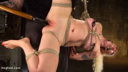 Photo number 10 from Lorelei Lee Submits in Brutal Bondage with Grueling Torment!!! shot for Hogtied on Kink.com. Featuring Lorelei Lee and The Pope in hardcore BDSM & Fetish porn.