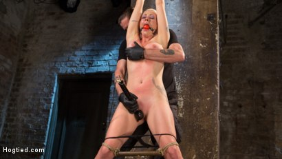 Photo number 2 from Lorelei Lee Submits in Brutal Bondage with Grueling Torment!!! shot for Hogtied on Kink.com. Featuring Lorelei Lee and The Pope in hardcore BDSM & Fetish porn.