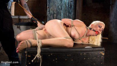 Photo number 7 from Lorelei Lee Submits in Brutal Bondage with Grueling Torment!!! shot for Hogtied on Kink.com. Featuring Lorelei Lee and The Pope in hardcore BDSM & Fetish porn.