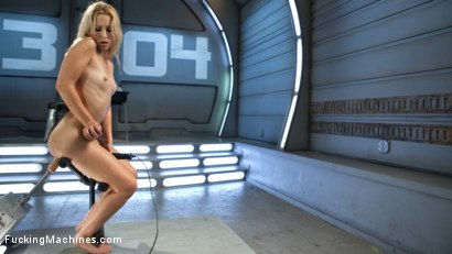 Photo number 2 from Golden-Haired, Teen Gets Schooled By Fast, Fucking-Machines shot for Fucking Machines on Kink.com. Featuring Goldie Glock in hardcore BDSM & Fetish porn.