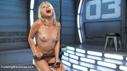 Photo number 4 from Golden-Haired, Teen Gets Schooled By Fast, Fucking-Machines shot for Fucking Machines on Kink.com. Featuring Goldie Glock in hardcore BDSM & Fetish porn.