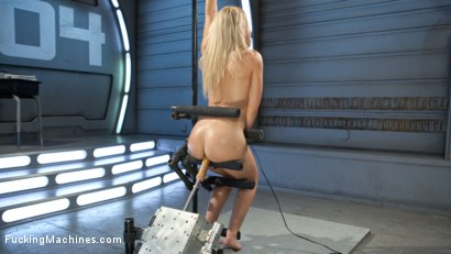 Photo number 3 from Golden-Haired, Teen Gets Schooled By Fast, Fucking-Machines shot for Fucking Machines on Kink.com. Featuring Goldie Rush in hardcore BDSM & Fetish porn.