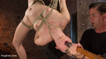 Photo number 13 from Petite Brunette is Captured in Bondage, Tormented, and Made to Cum shot for Hogtied on Kink.com. Featuring Aria Alexander and The Pope in hardcore BDSM & Fetish porn.