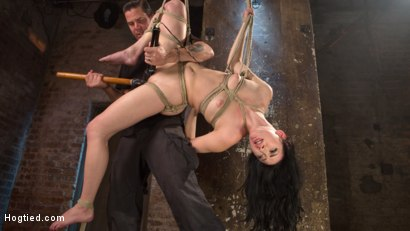 Photo number 5 from Petite Brunette is Captured in Bondage, Tormented, and Made to Cum shot for Hogtied on Kink.com. Featuring Aria Alexander and The Pope in hardcore BDSM & Fetish porn.