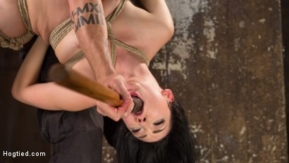 Photo number 6 from Petite Brunette is Captured in Bondage, Tormented, and Made to Cum shot for Hogtied on Kink.com. Featuring Aria Alexander and The Pope in hardcore BDSM & Fetish porn.