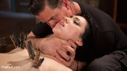 Photo number 7 from Petite Brunette is Captured in Bondage, Tormented, and Made to Cum shot for Hogtied on Kink.com. Featuring Aria Alexander and The Pope in hardcore BDSM & Fetish porn.