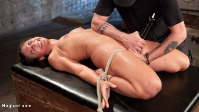 Photo number 17 from 19 Year Old Rope Slut Suffers in Extreme Bondage shot for Hogtied on Kink.com. Featuring Abella Danger and The Pope in hardcore BDSM & Fetish porn.