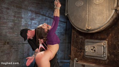 Photo number 5 from 19 Year Old Rope Slut Suffers in Extreme Bondage shot for Hogtied on Kink.com. Featuring Abella Danger and The Pope in hardcore BDSM & Fetish porn.