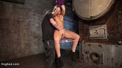Photo number 6 from 19 Year Old Rope Slut Suffers in Extreme Bondage shot for Hogtied on Kink.com. Featuring Abella Danger and The Pope in hardcore BDSM & Fetish porn.