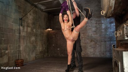Photo number 7 from 19 Year Old Rope Slut Suffers in Extreme Bondage shot for Hogtied on Kink.com. Featuring Abella Danger and The Pope in hardcore BDSM & Fetish porn.
