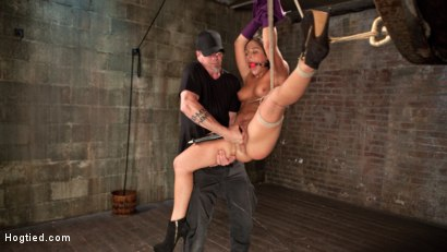 Photo number 8 from 19 Year Old Rope Slut Suffers in Extreme Bondage shot for Hogtied on Kink.com. Featuring Abella Danger and The Pope in hardcore BDSM & Fetish porn.