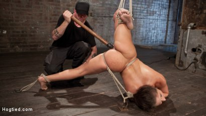 Photo number 4 from 19 Year Old Rope Slut Suffers in Extreme Bondage shot for Hogtied on Kink.com. Featuring Abella Danger and The Pope in hardcore BDSM & Fetish porn.