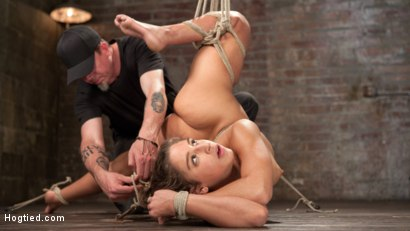 Photo number 9 from 19 Year Old Rope Slut Suffers in Extreme Bondage shot for Hogtied on Kink.com. Featuring Abella Danger and The Pope in hardcore BDSM & Fetish porn.