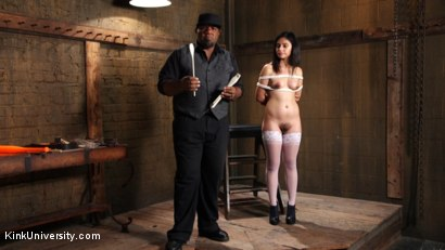 Photo number 15 from Pervertables: Converting Everyday Things into Kinky Toys shot for Kink University on Kink.com. Featuring Darling Deicide and Orpheus Black in hardcore BDSM & Fetish porn.