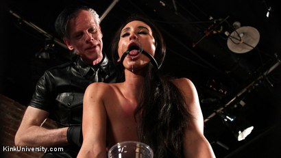 Photo number 3 from Tunnel Plugs & Tunnel Gags shot for Kink University on Kink.com. Featuring Danarama and Virginia Tunnels in hardcore BDSM & Fetish porn.