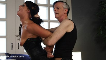 Photo number 11 from Rough Sex: The Best Fucking Positions	 shot for Kink University on Kink.com. Featuring Danarama and London River in hardcore BDSM & Fetish porn.