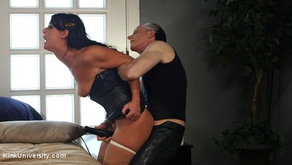 Photo number 13 from Rough Sex: The Best Fucking Positions	 shot for Kink University on Kink.com. Featuring Danarama and London River in hardcore BDSM & Fetish porn.