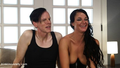 Photo number 22 from Rough Sex: The Best Fucking Positions	 shot for Kink University on Kink.com. Featuring Danarama and London River in hardcore BDSM & Fetish porn.