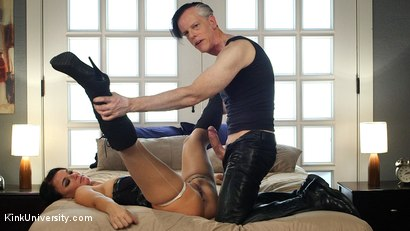 Photo number 5 from Rough Sex: The Best Fucking Positions	 shot for Kink University on Kink.com. Featuring Danarama and London River in hardcore BDSM & Fetish porn.