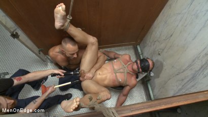 Photo number 12 from Scott Riley gets captured, edged and fucked by horny plumbers shot for Men On Edge on Kink.com. Featuring Scott Riley in hardcore BDSM & Fetish porn.