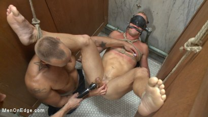 Photo number 10 from Scott Riley gets captured, edged and fucked by horny plumbers shot for Men On Edge on Kink.com. Featuring Scott Riley in hardcore BDSM & Fetish porn.