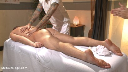 Photo number 2 from Undercover cop begs to cum in an sketchy massage parlor shot for Men On Edge on Kink.com. Featuring Josh Peters in hardcore BDSM & Fetish porn.