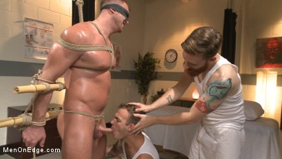 Photo number 11 from Undercover cop begs to cum in an sketchy massage parlor shot for Men On Edge on Kink.com. Featuring Josh Peters in hardcore BDSM & Fetish porn.