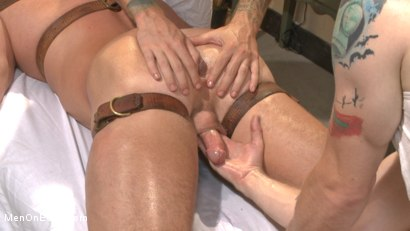 Photo number 4 from Undercover cop begs to cum in an sketchy massage parlor shot for Men On Edge on Kink.com. Featuring Josh Peters in hardcore BDSM & Fetish porn.