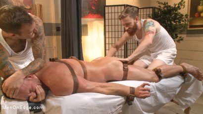 Photo number 3 from Undercover cop begs to cum in an sketchy massage parlor shot for Men On Edge on Kink.com. Featuring Josh Peters in hardcore BDSM & Fetish porn.
