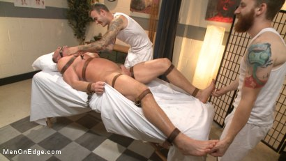 Photo number 7 from Undercover cop begs to cum in an sketchy massage parlor shot for Men On Edge on Kink.com. Featuring Josh Peters in hardcore BDSM & Fetish porn.