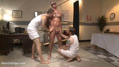 Photo number 10 from Undercover cop begs to cum in an sketchy massage parlor shot for Men On Edge on Kink.com. Featuring Josh Peters in hardcore BDSM & Fetish porn.