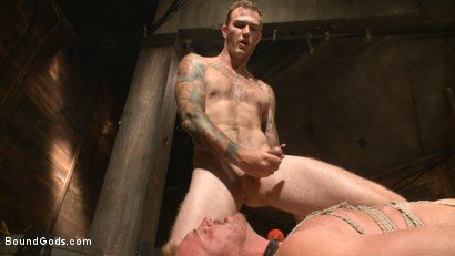 Photo number 13 from Farmboy punished for jerking off on the job shot for boundgods on Kink.com. Featuring Christian Wilde and Josh Peters in hardcore BDSM & Fetish porn.