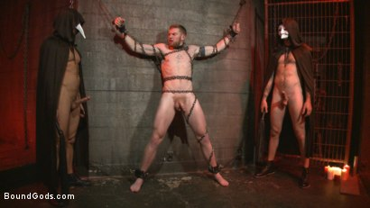 Photo number 3 from The Cursed and The Damned  shot for Bound Gods on Kink.com. Featuring Christian Wilde, Jessie Colter and Cass Bolton in hardcore BDSM & Fetish porn.