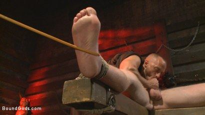 Photo number 7 from The Cursed and The Damned  shot for Bound Gods on Kink.com. Featuring Christian Wilde, Jessie Colter and Cass Bolton in hardcore BDSM & Fetish porn.