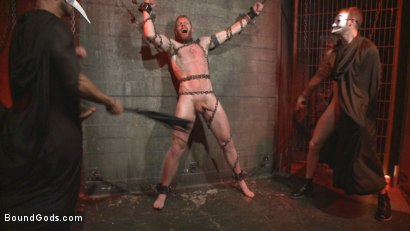 Photo number 5 from The Cursed and The Damned  shot for Bound Gods on Kink.com. Featuring Christian Wilde, Jessie Colter and Cass Bolton in hardcore BDSM & Fetish porn.