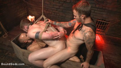 Photo number 11 from The Cursed and The Damned  shot for Bound Gods on Kink.com. Featuring Christian Wilde, Jessie Colter and Cass Bolton in hardcore BDSM & Fetish porn.
