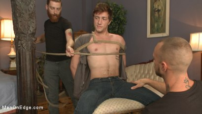 Photo number 1 from First time getting edged for a big fat cock! shot for Men On Edge on Kink.com. Featuring Logan Taylor in hardcore BDSM & Fetish porn.