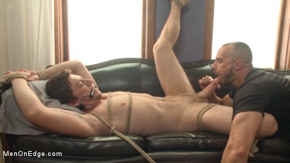 Photo number 10 from First time getting edged for a big fat cock! shot for Men On Edge on Kink.com. Featuring Logan Taylor in hardcore BDSM & Fetish porn.
